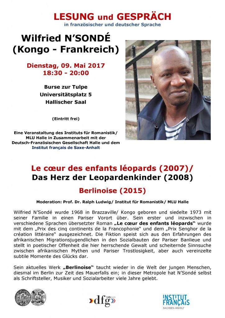 Lesung  Wilfried N'Sondé