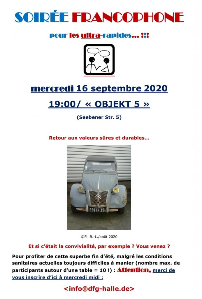 soirée francophon septembre 2020